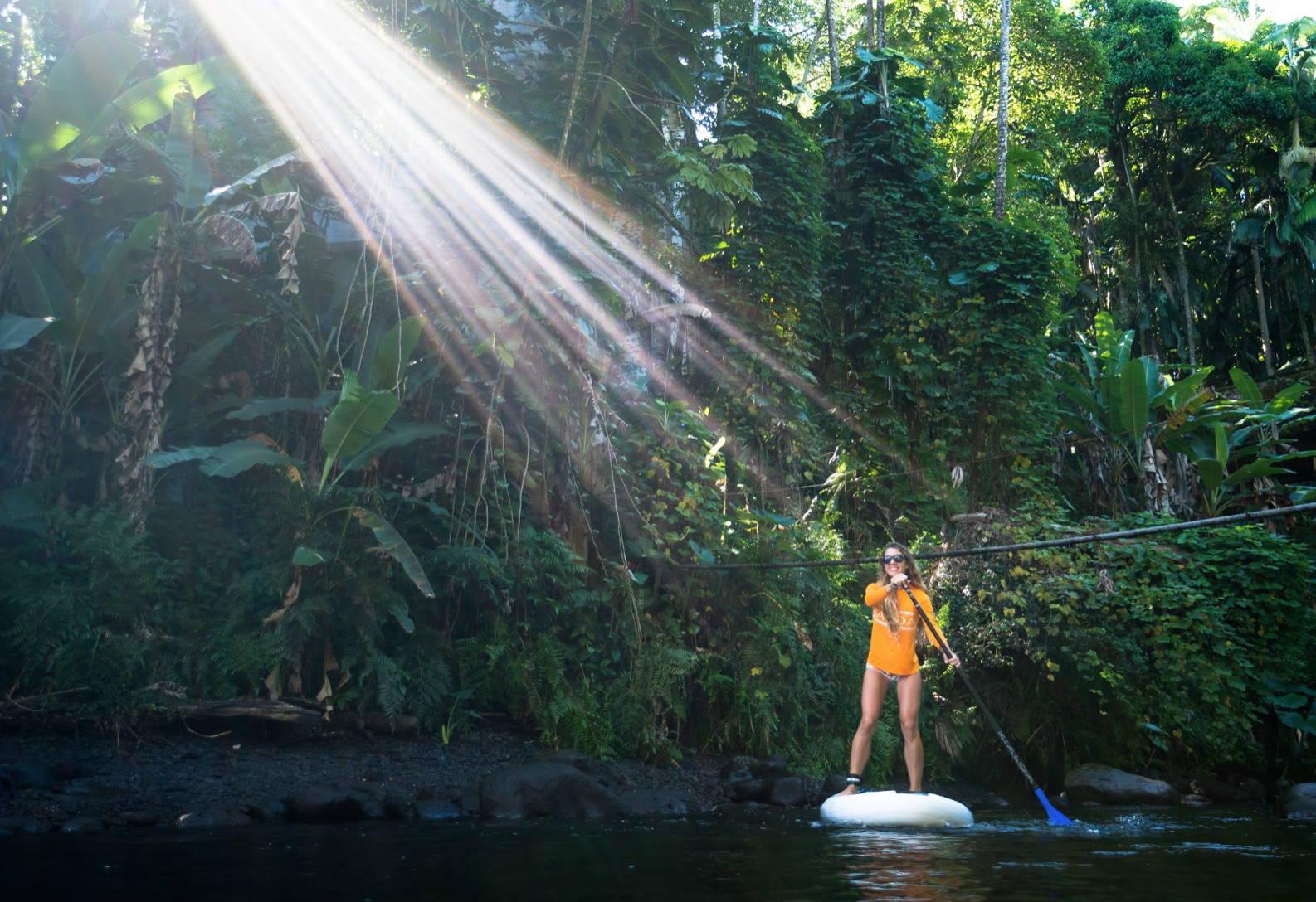 Maui river Hawaii sup paddling