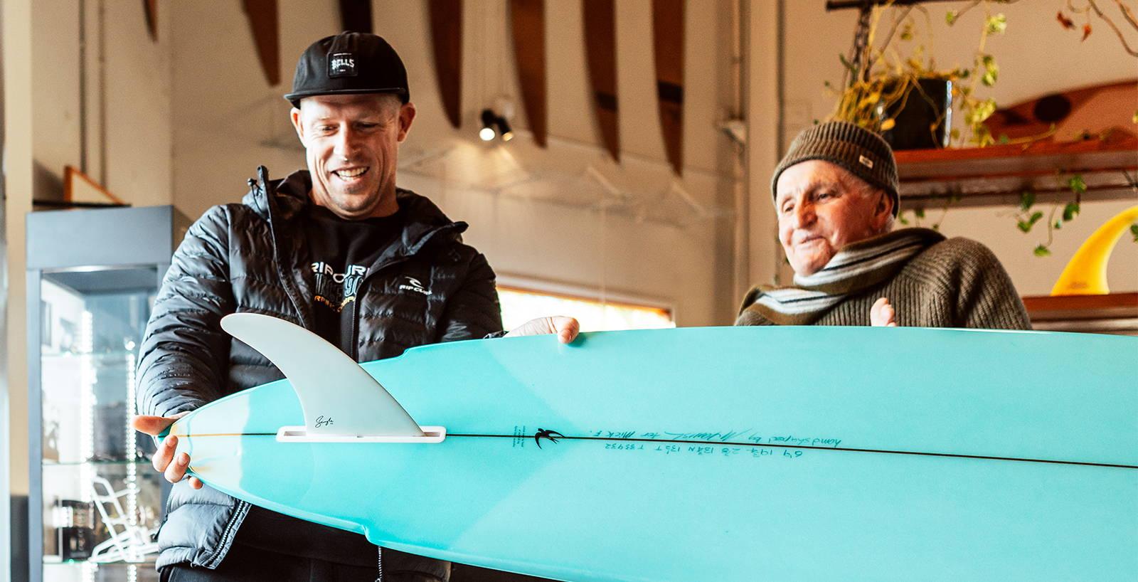 THE SHAPER AWARDS: MICK SURFS THE MCTAVISH BLUEBIRD