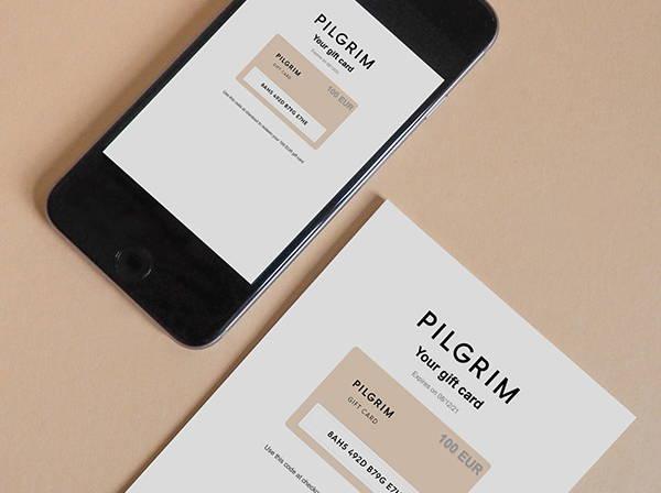 Pilgrim gavekort