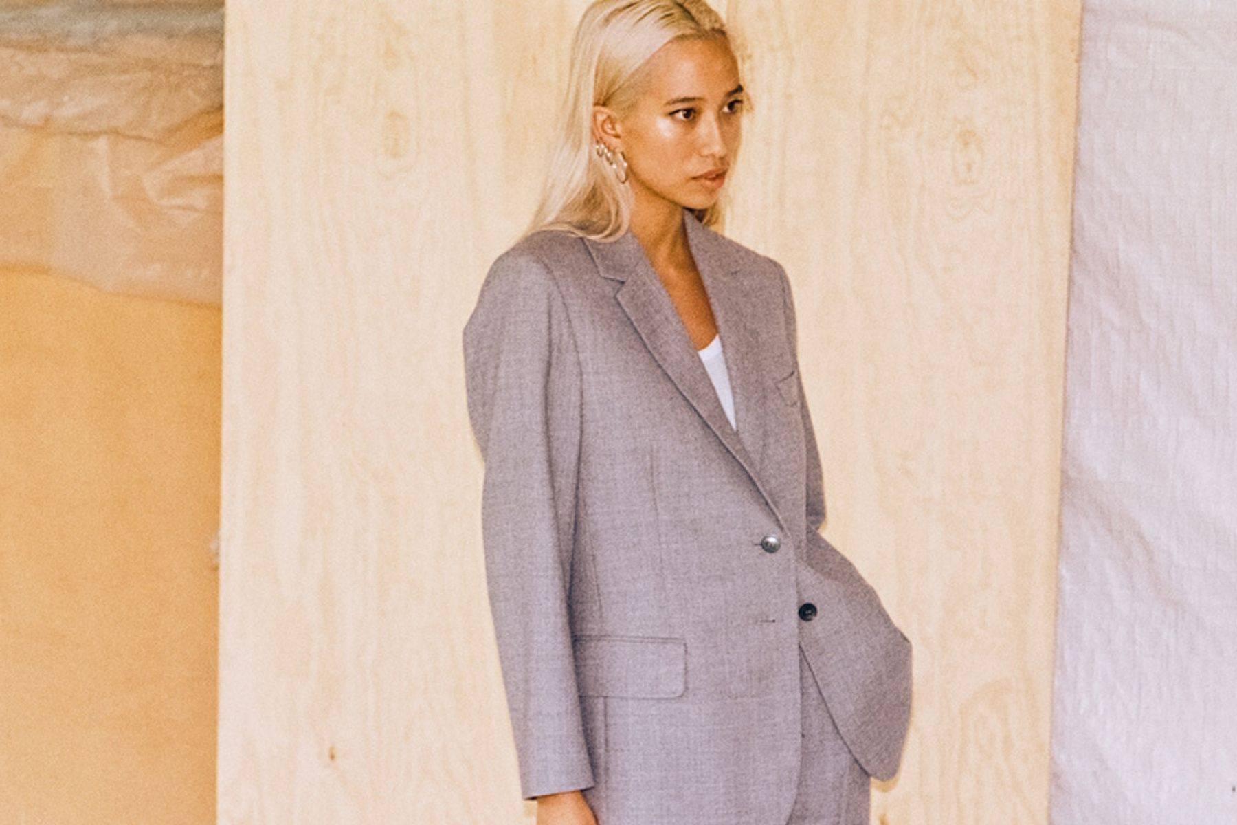 Grey Womens Wool Suto Jacket