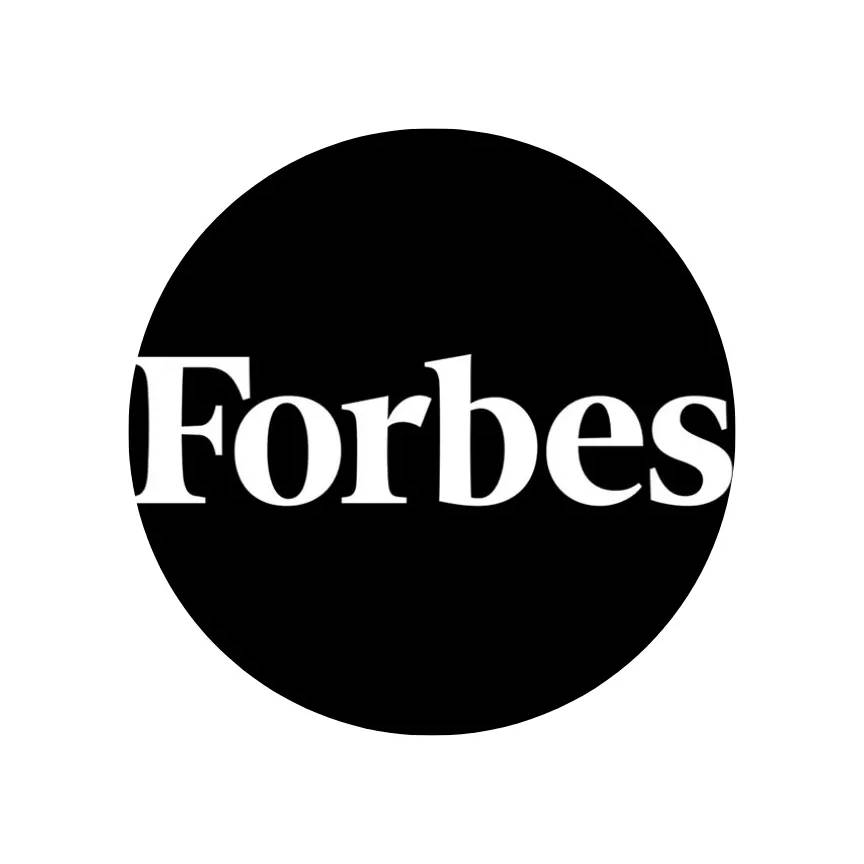 Graphic logo of Forbes