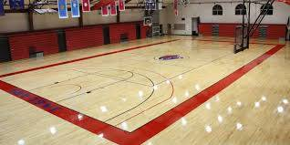 A beautiful refinished gym floor