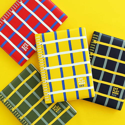 4 colors - Romane 2020 Eat play work 365 dated daily diary planner