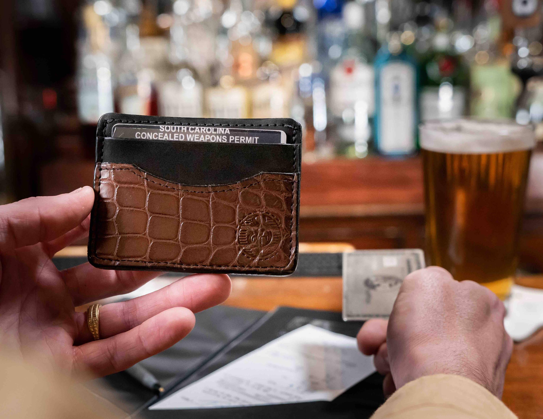 Custom made alligator wallets
