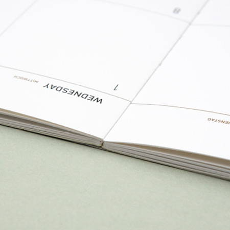 Opens flat - 2020 Big dated monthly planner
