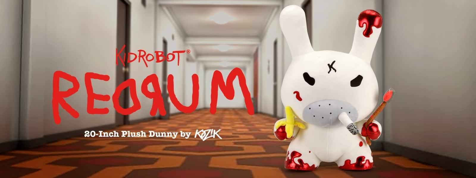Kidrobot REDRUM 20-inch Plush Dunny by Frank Kozik