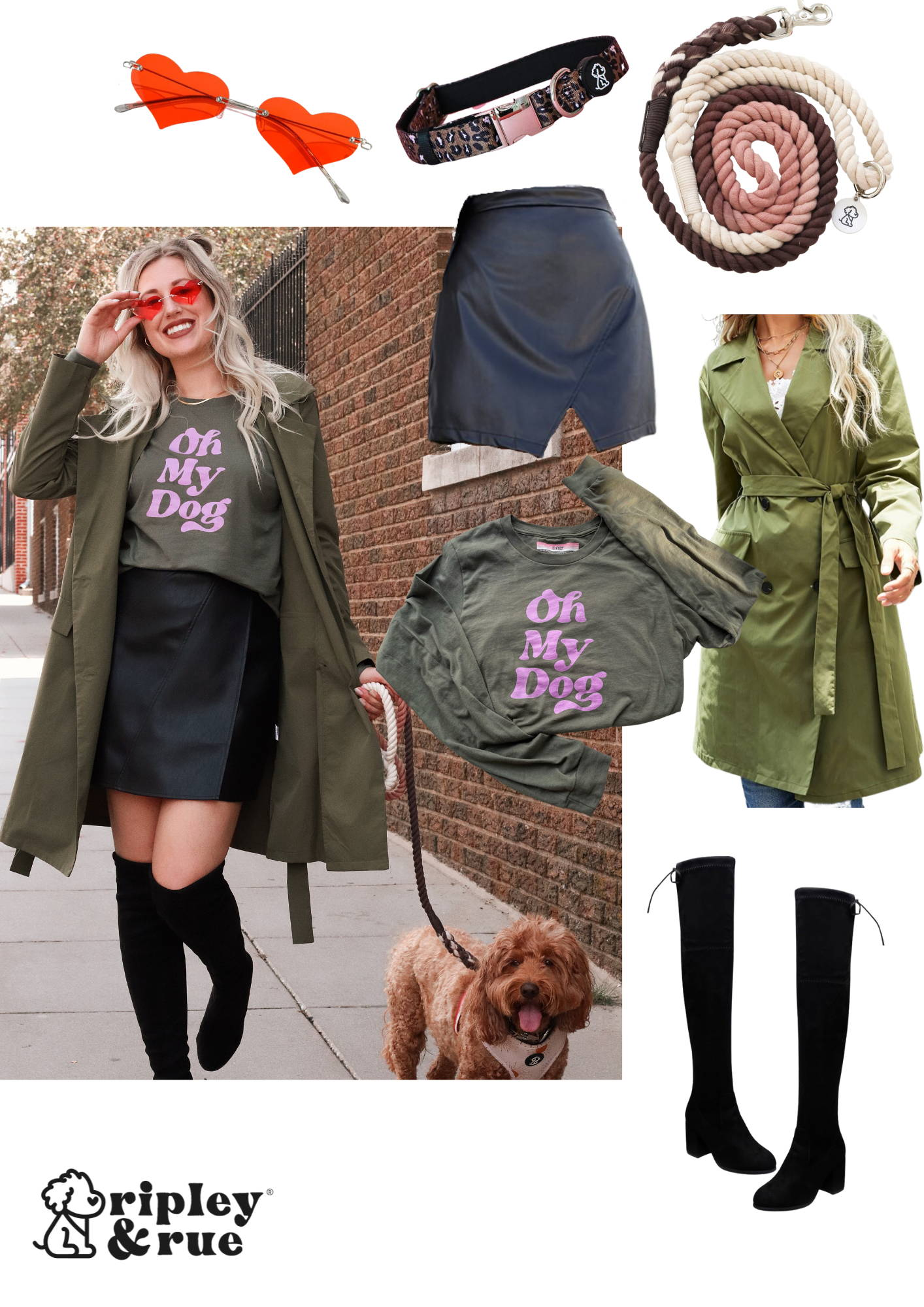 A fashionable style guide for dog moms living the city life. Shop all things dog mom at Ripley & Rue, and check out how we spiced up our favorites for fall! #falllooks #dogmomfashion #dogmomstyle #citylooks #cityfashion #citydogmom #dogmomlife #dogmom #dogmoms #dogfashion #stylish #styleguide #trendingfashion