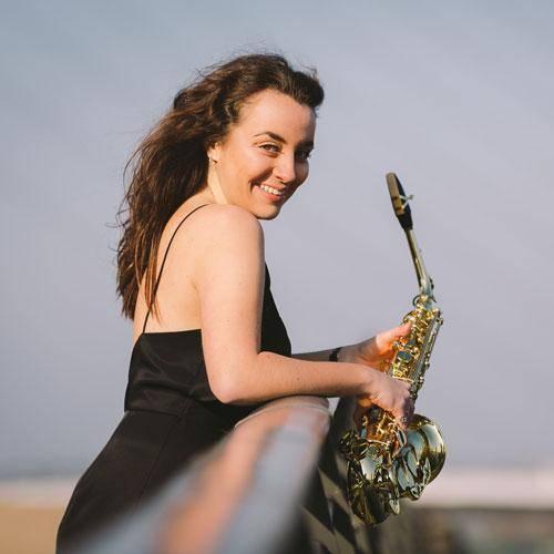 Saxophonist Emma McPhilemy
