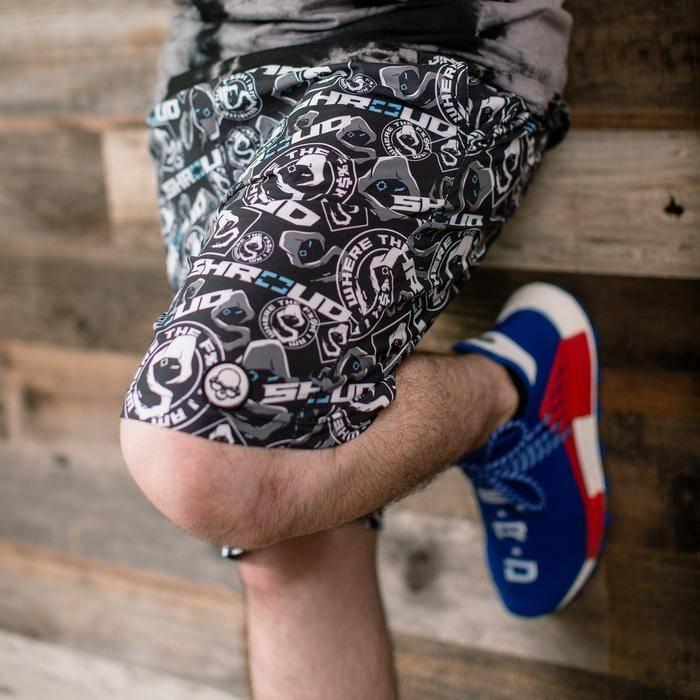 Photo of Shroud logo pattern pants.