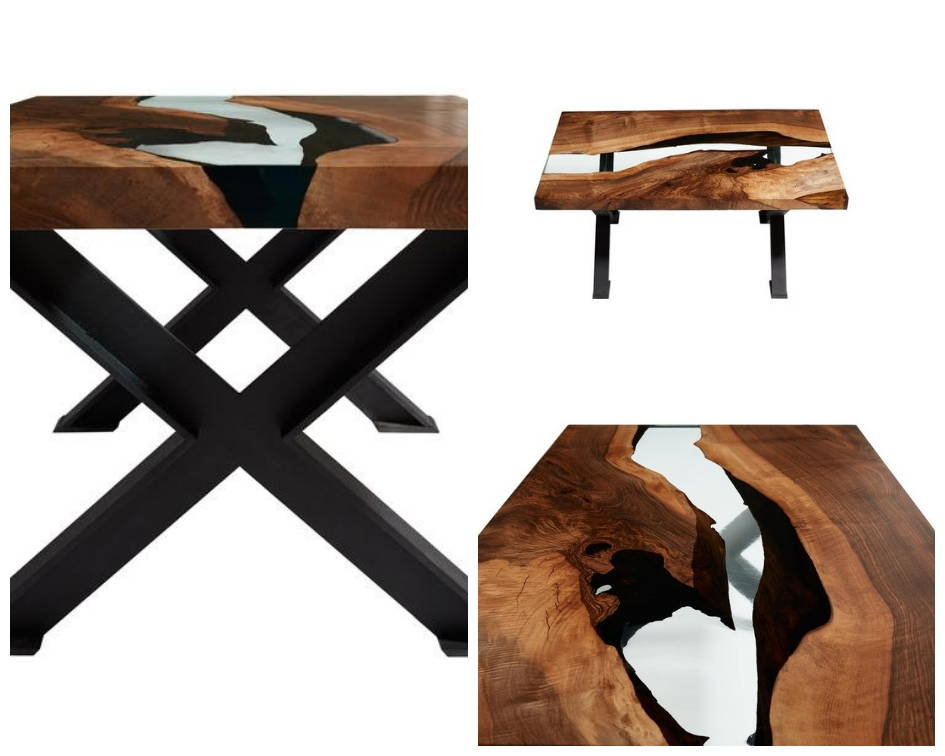 Hudson 120 Resin Coffee River Table