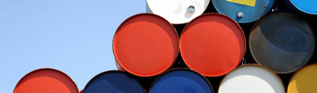 50 gallon barrels stacked sideways