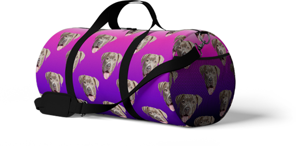 dog duffle bag with graident