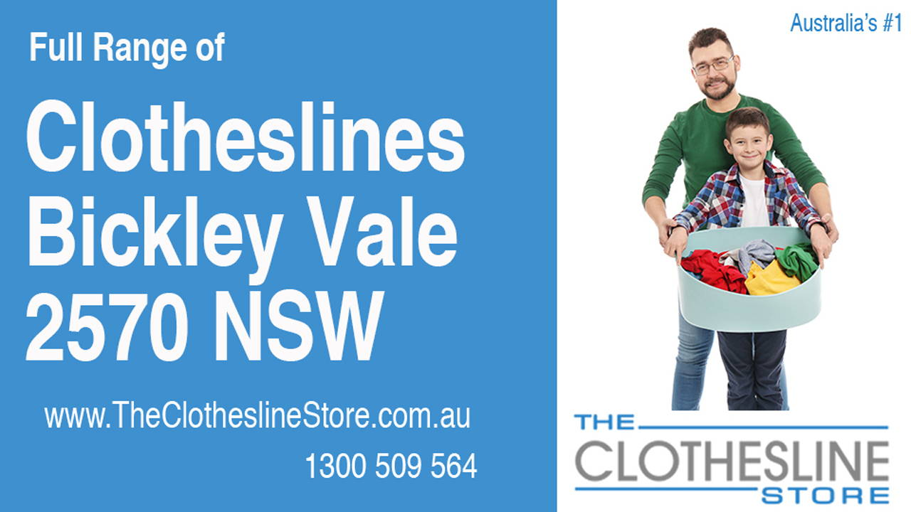 New Clotheslines in Bickley Vale 2570 NSW