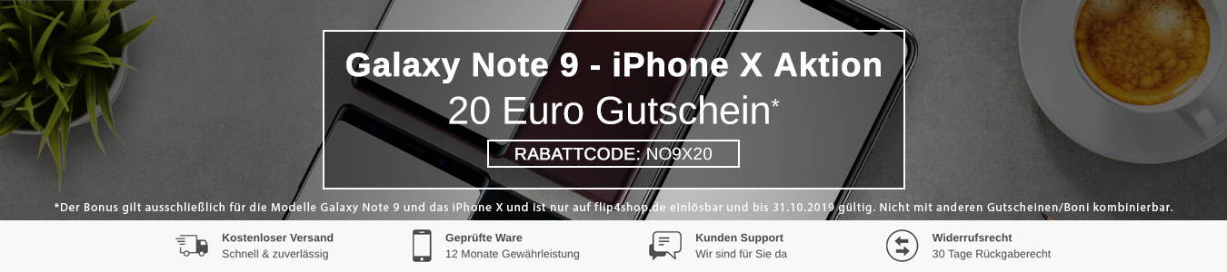 Galaxy Note 9 – iPhone X Aktion bei FLIP4SHOP