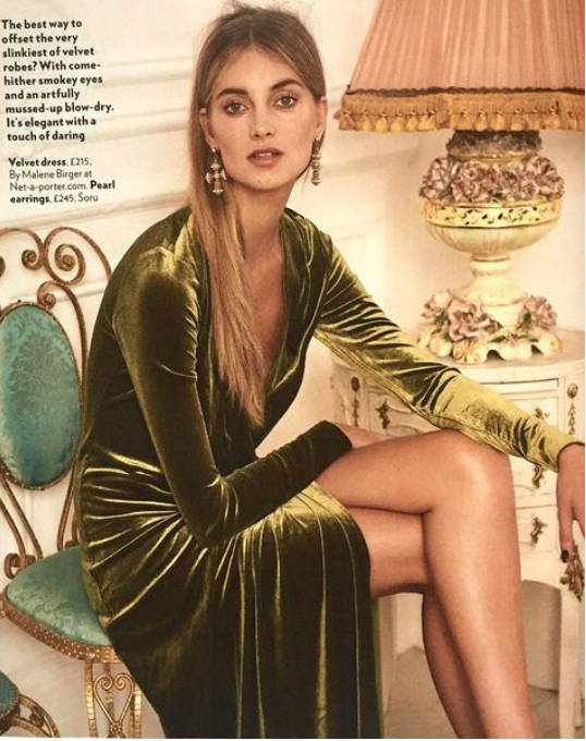 soru santina cross earrings in red magazine