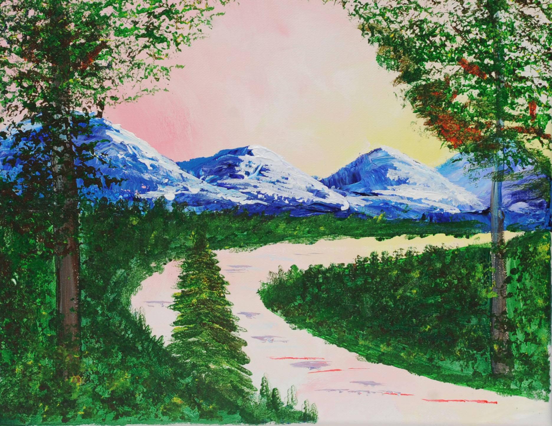 Rossy Mountain Peaks Paint & Sip Kit