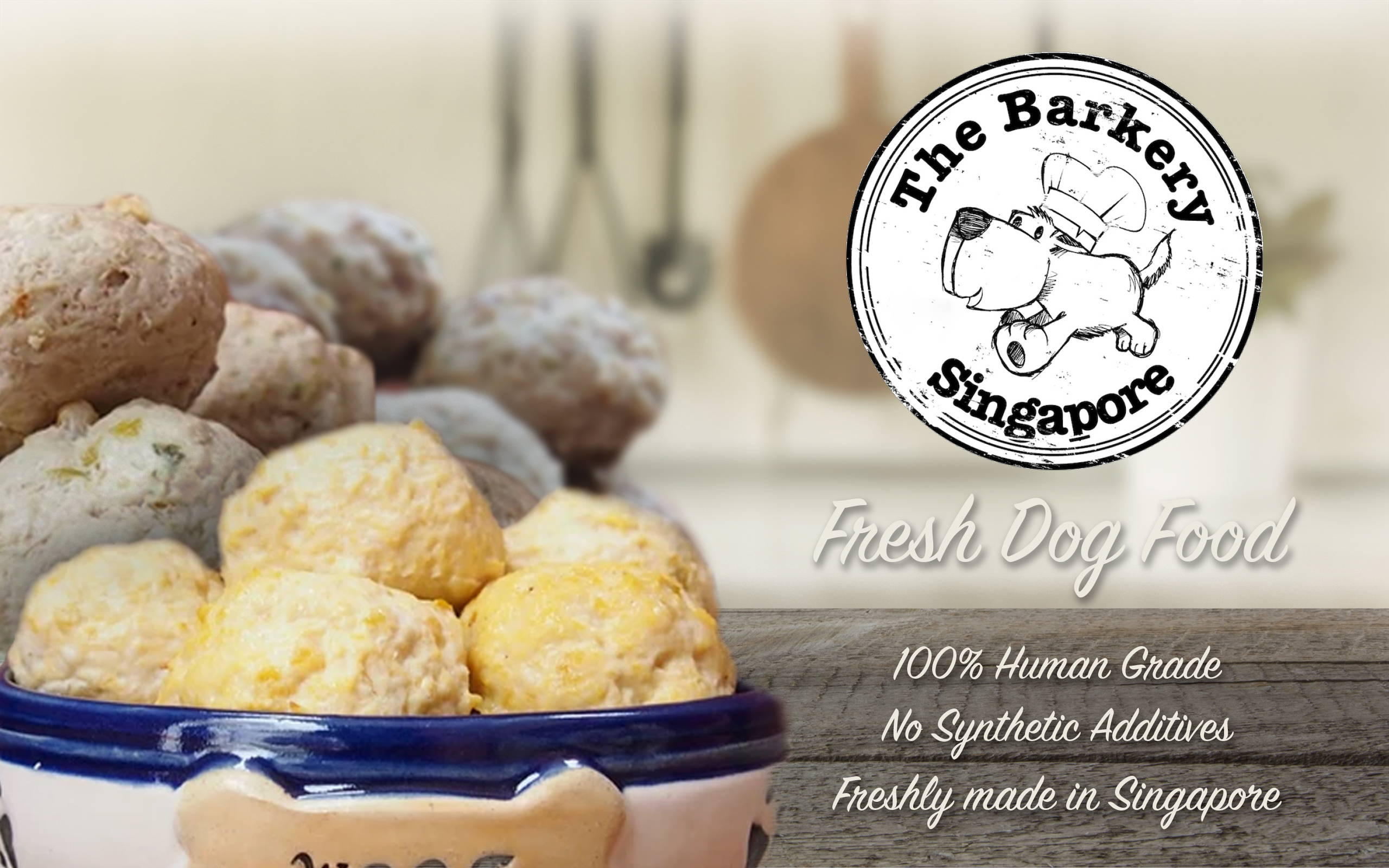 The barkery fresh dog food mutt balls collection