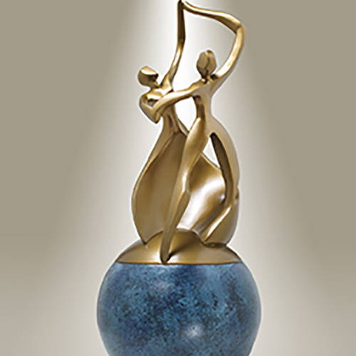 Dance of Life Single Bronze Cremation Urn