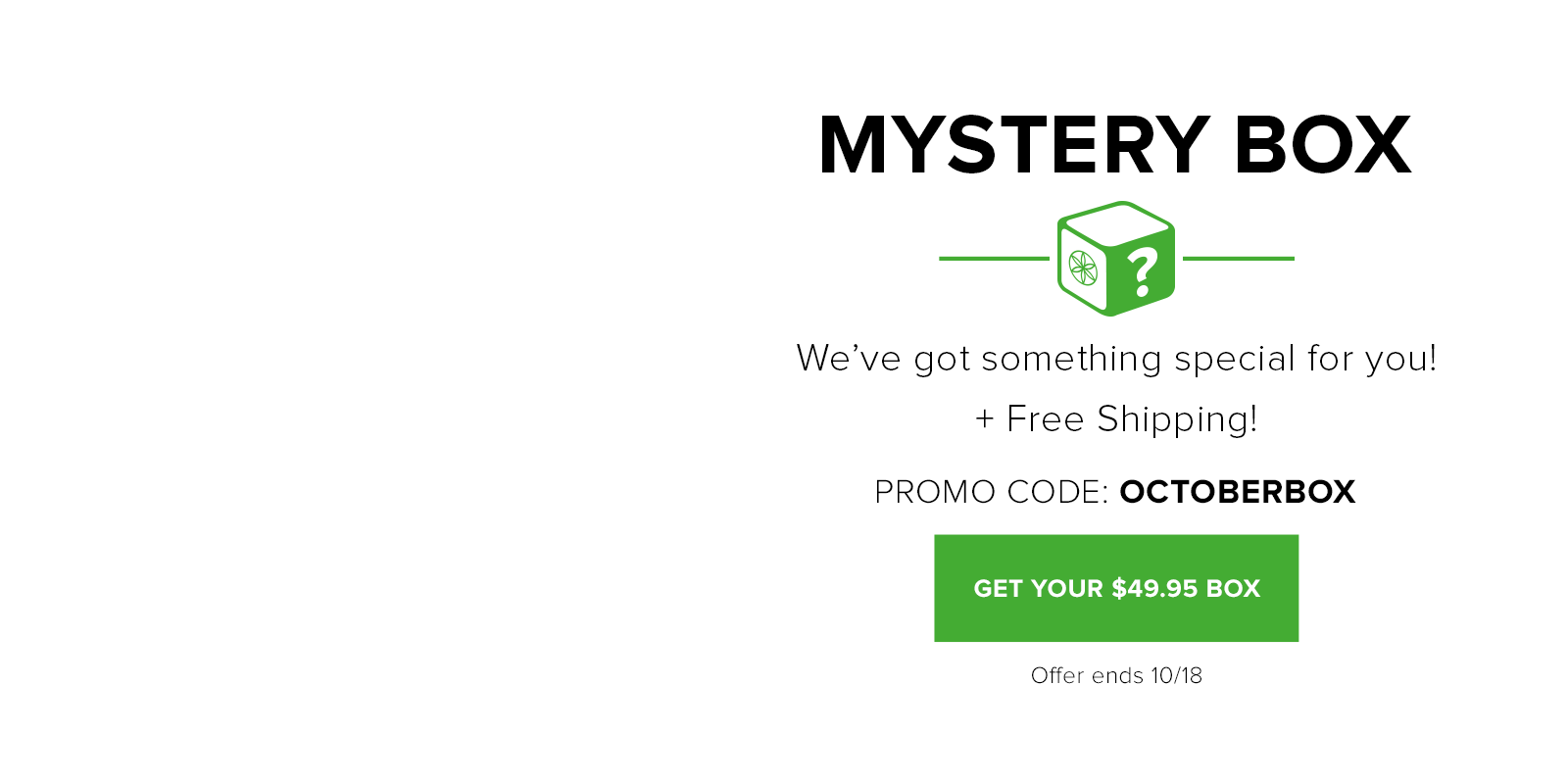 October Mystery Box for $49.95
