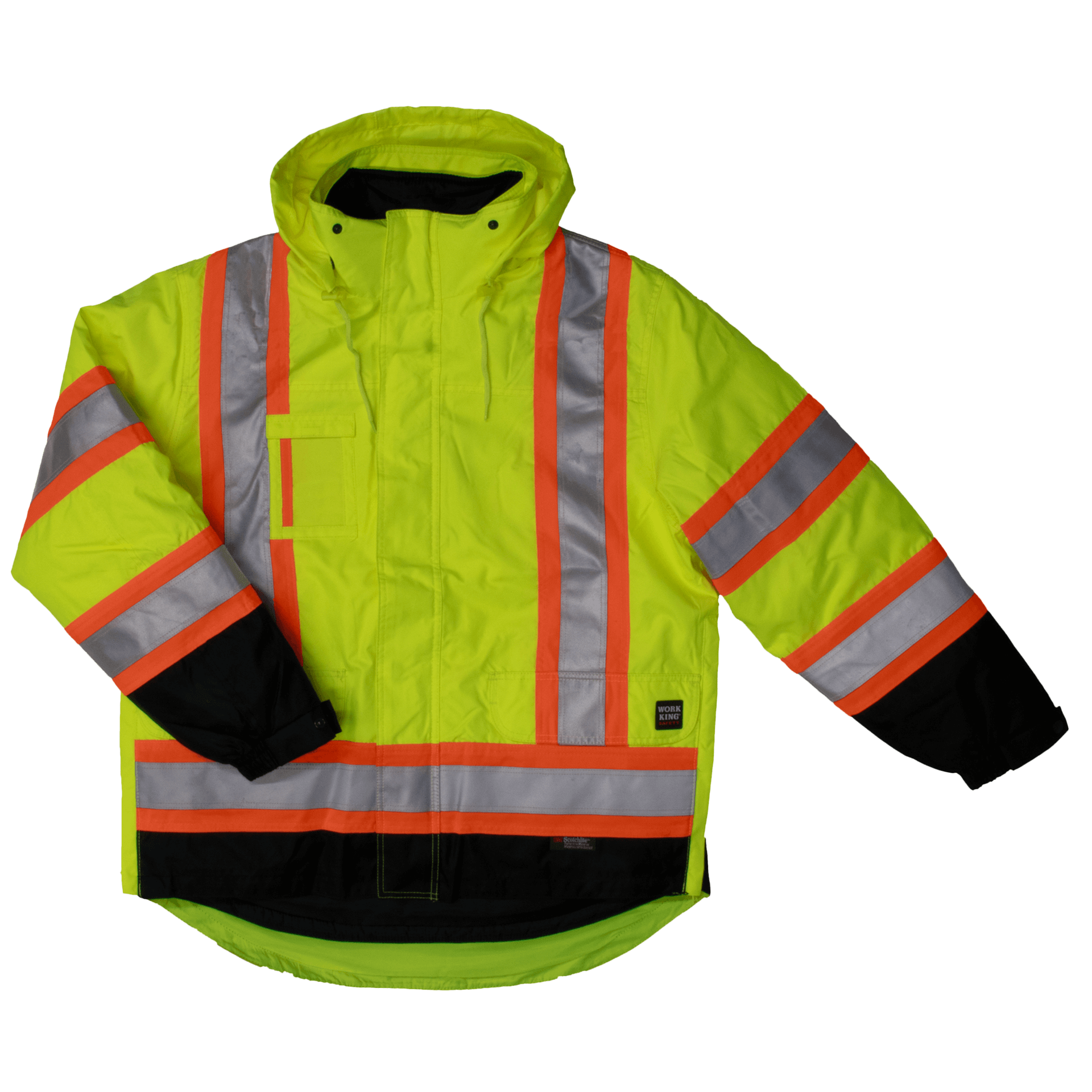 High Visibility Tough Duck 5-in-1 Safety Jacket S426