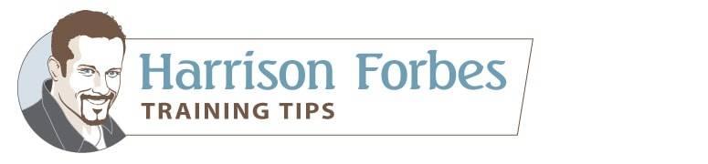 Harrison Forbes training tips banner