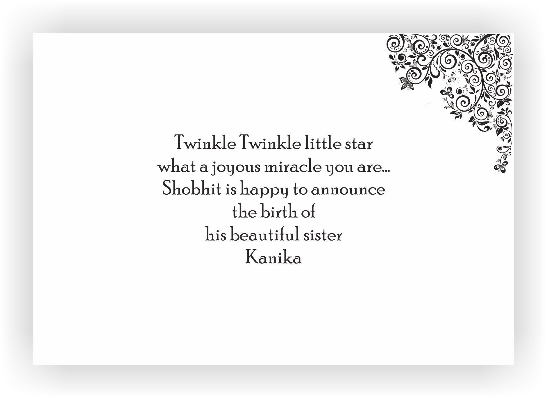 birth announcement message for girl - 7