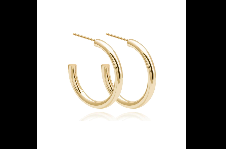 Basic large gold hoops