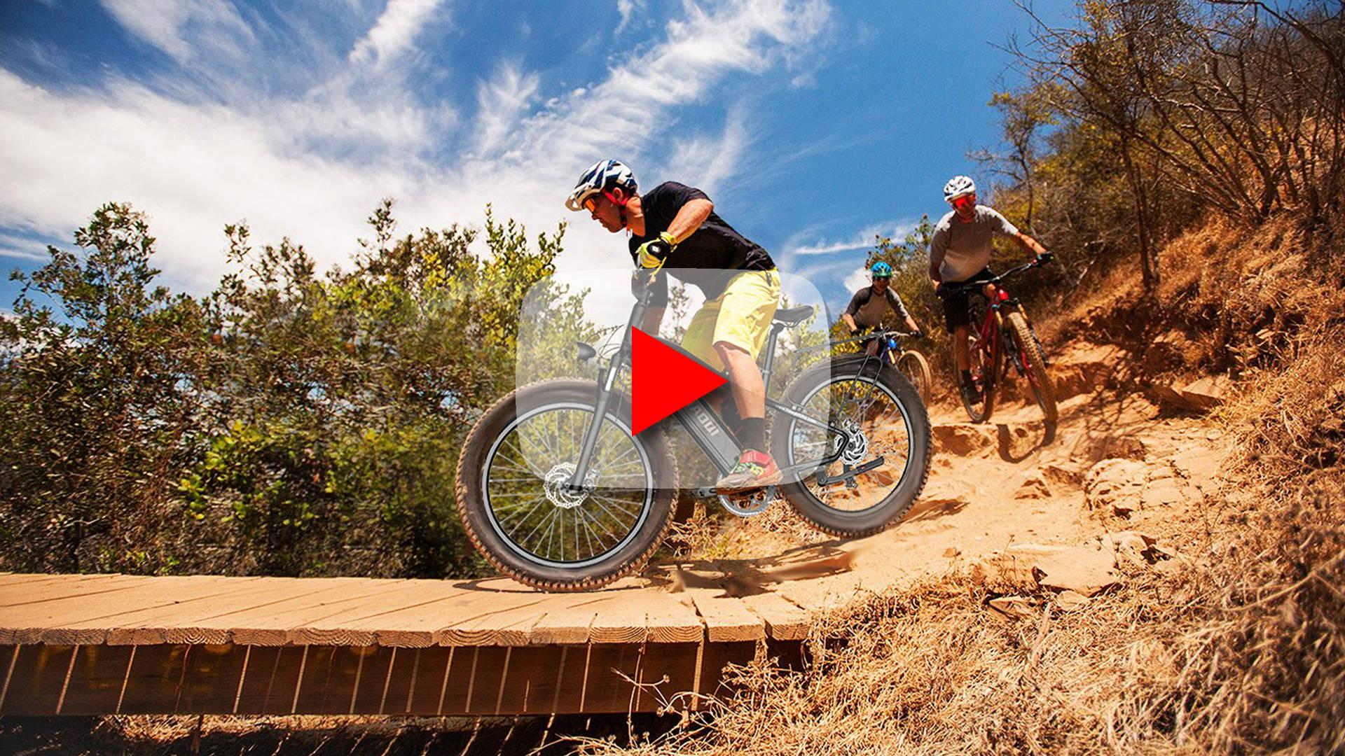 HAOQI All Terrain Electric Fat Bikes | Biking Touring