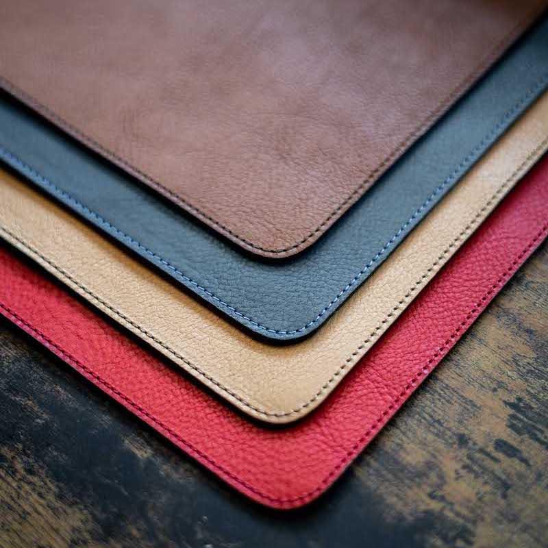 italian leather desk mats
