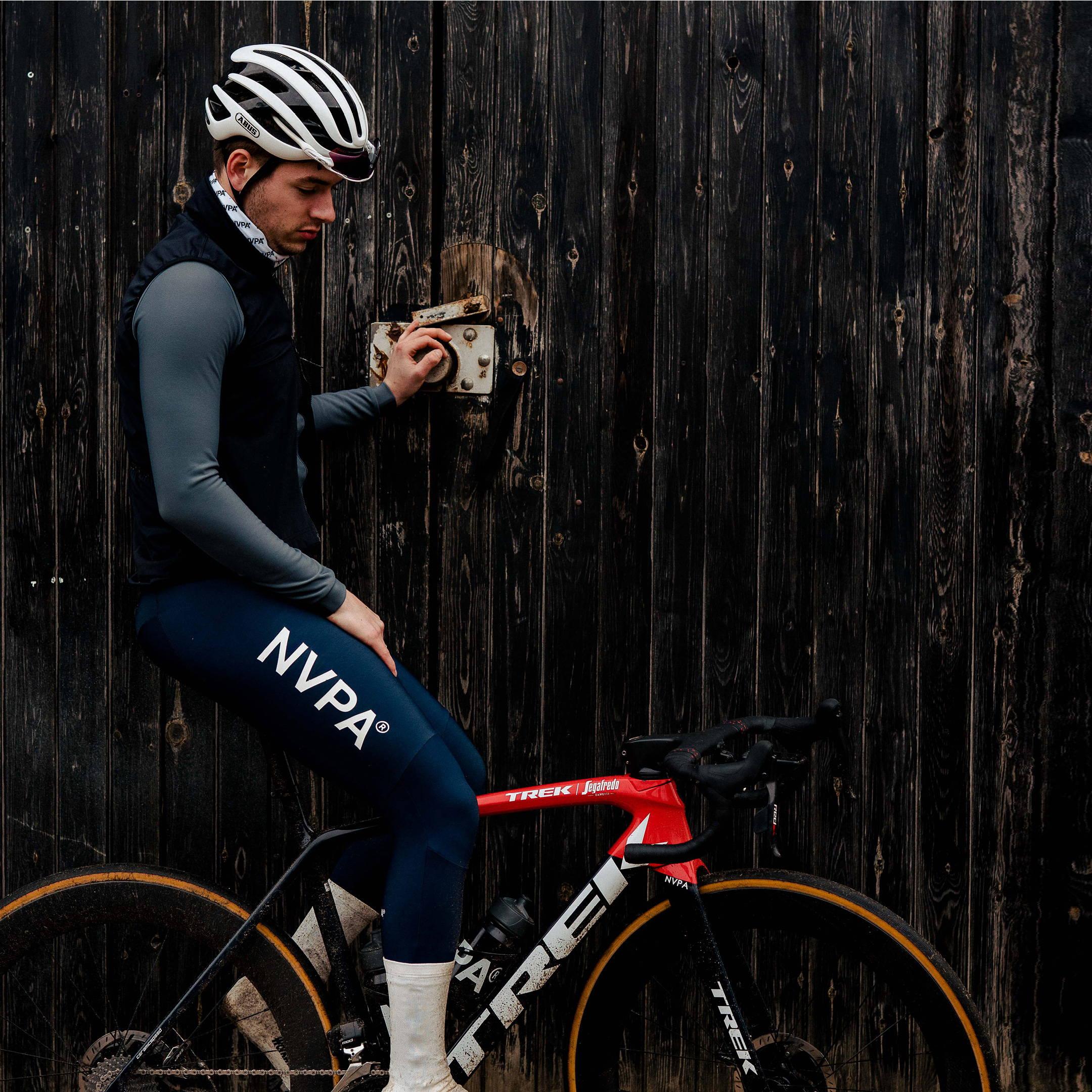 Cyclist wears NVPA