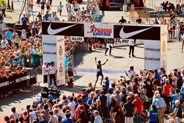 Person Winning A Marathon