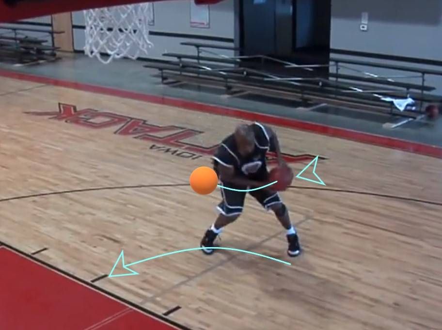 Ball movement while pivoting