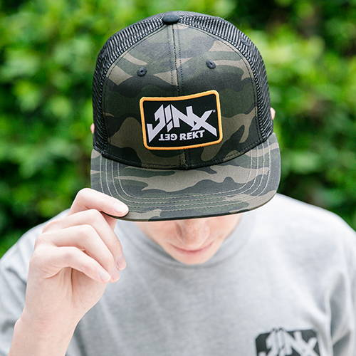 Photo of male model wearing JINX Brand hat