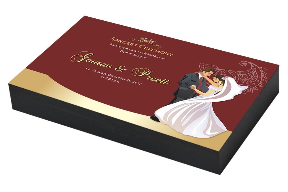 Dancing Couple sangeet ceremony Invitation