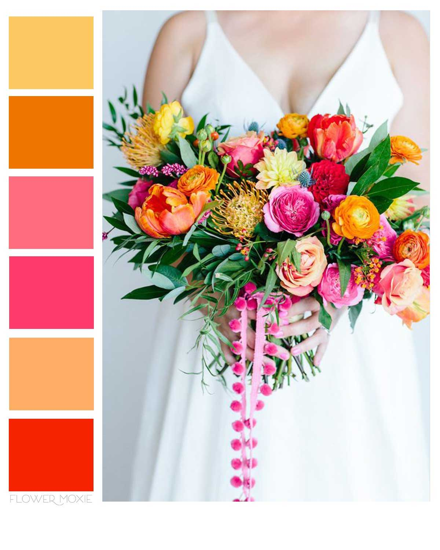 colorful wedding flower diy packages