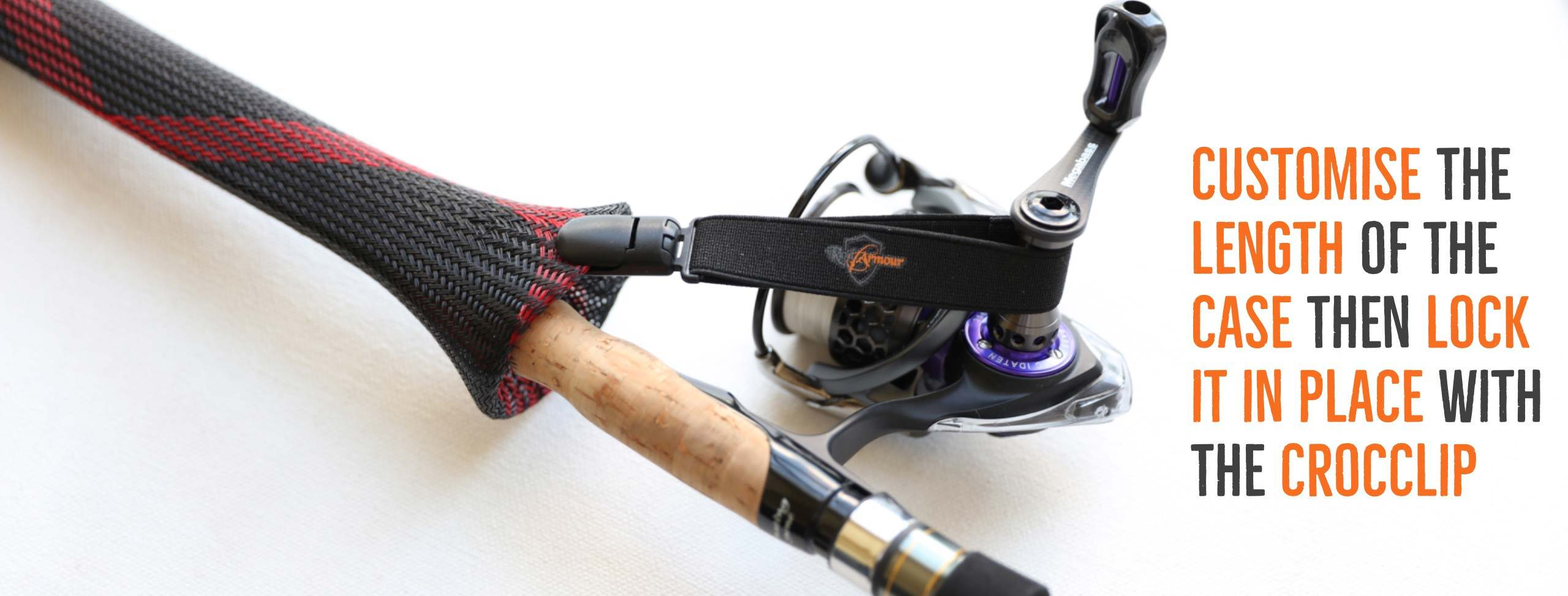 The CrocClip aims to customise the length of your fishing rod case and lock the fishing cover in place