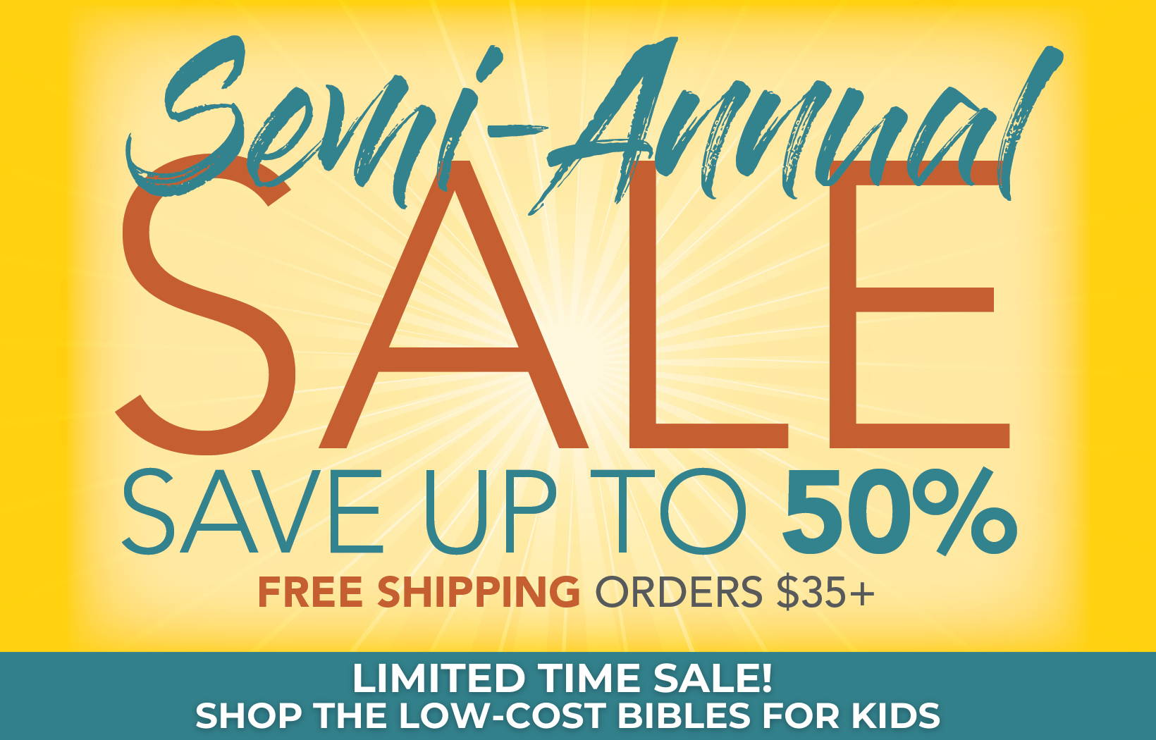 3-Days Left! Semi-Annual Sale - Save up to 50%
