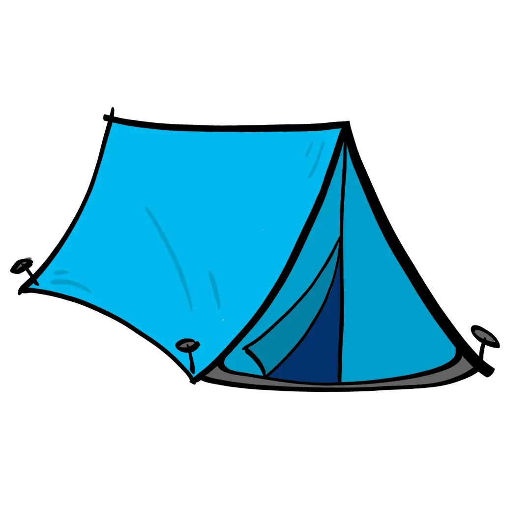 illustrated tent