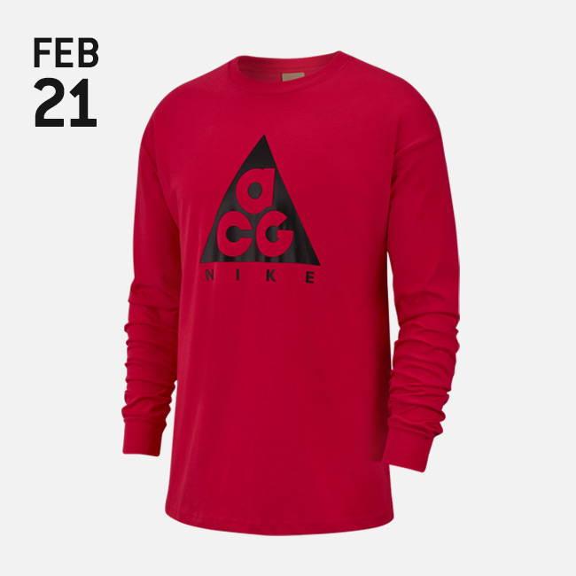 53fa6638 Nike ACG Logo Long Sleeve T-shirt - Rush Pink/Black - BQ3457-666 ...