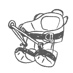 sketched drawing of Saddles