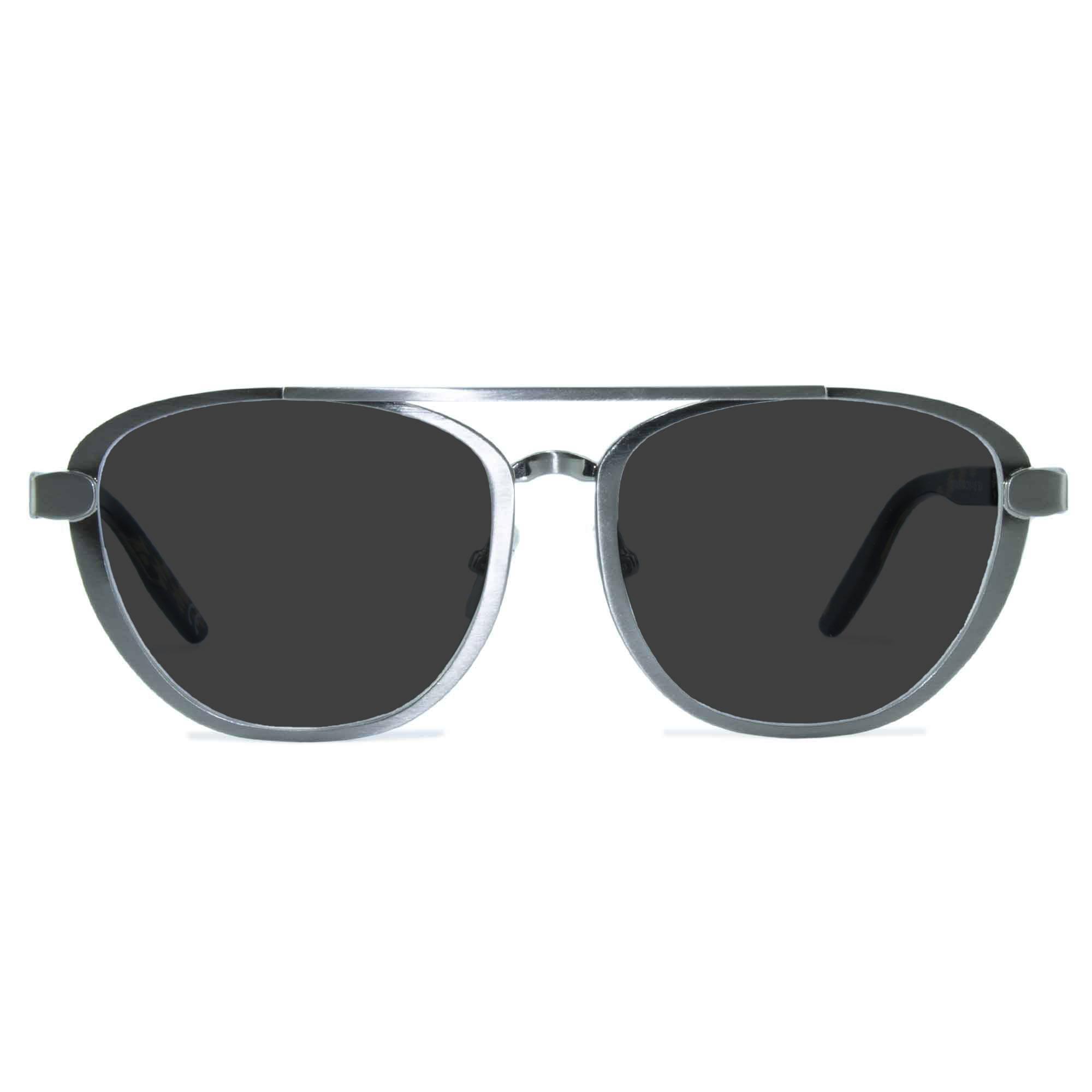 Joiuss dennis silver aviator sunglasses