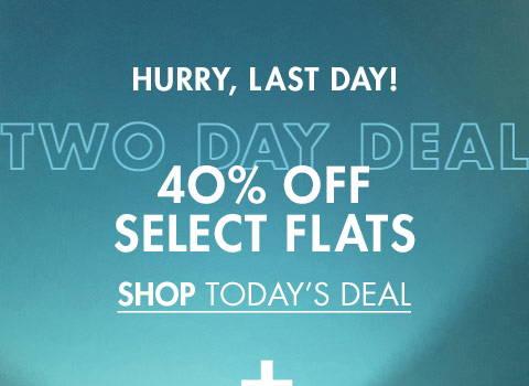 40% Off Select Flats