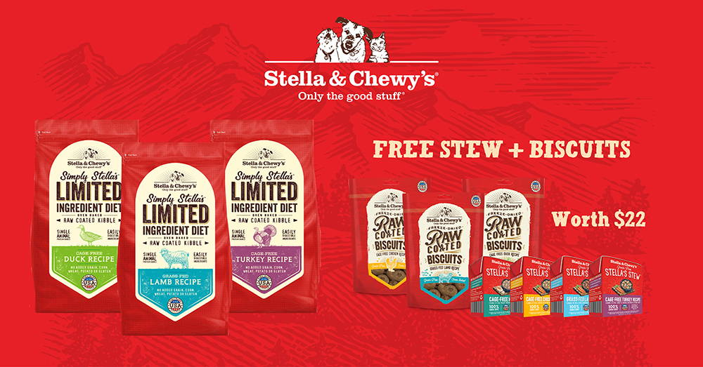 Stella and Chewy's promotion banner 8