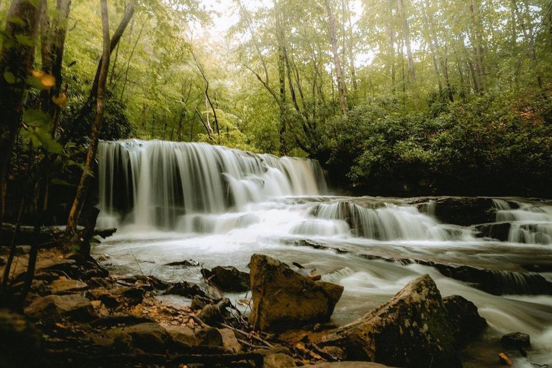 Jonathan Run Falls in Ohiopyle State Park Ohiopyle, PA