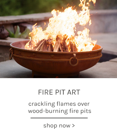 Fire Pit Art crackling flames over wood-burning fire pits shop now
