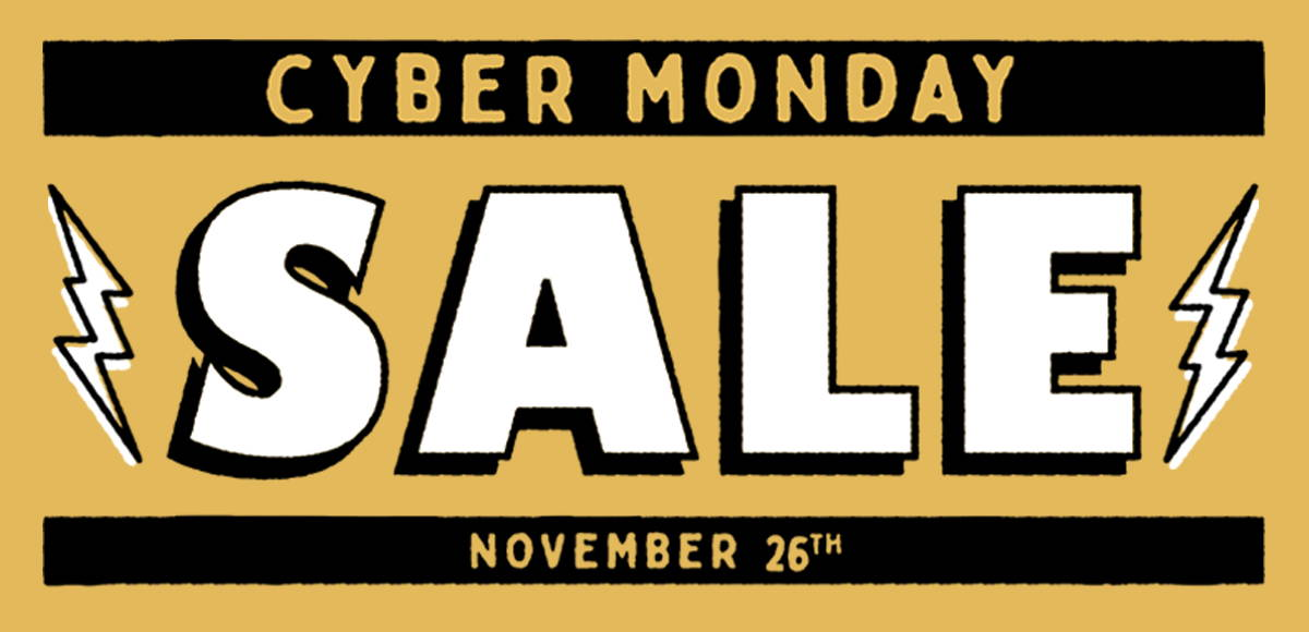 Iron & Resin Cyber Monday Sale Mobile Landing Page