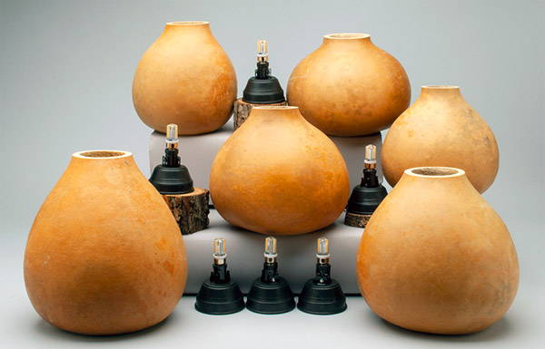 Box of 6 Gourd Pots with LED Lamp Kits (7