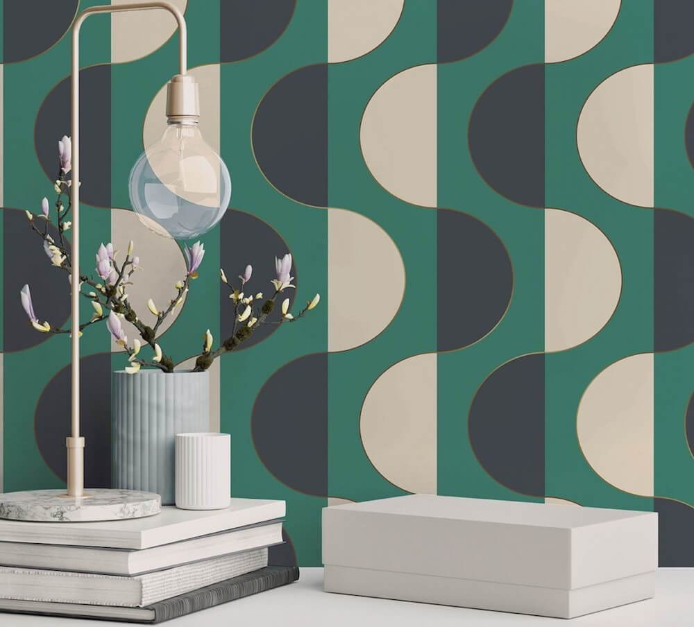 Create a wallpaper accent wall with one of these on-trend wallpaper designs.