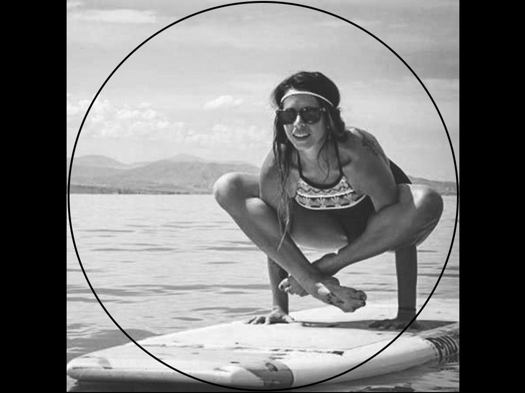 paddle board yoga instructor Alissa Kepas