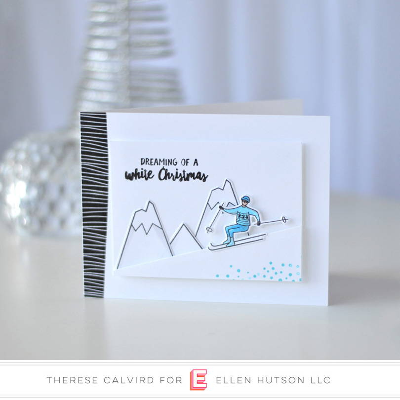 Essentials by Ellen Mountain Holiday card by Therese Calvird